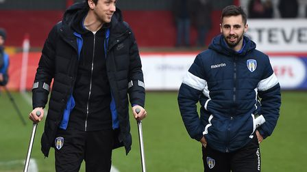 Luke Prosser, left, who has undergone another knee operation. Team-mate Lewis Kinsella, right, by co