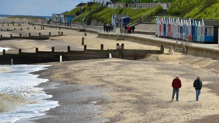 Southwold beach is one of the safest dog friendly beaches in the UK. Picture: SIMON PARKER