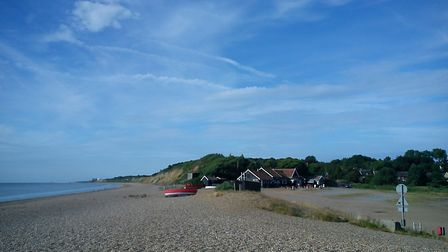 Dunwich beach welcomes dogs. Photo: ALISON CONNORS