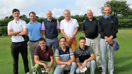 Aldeburgh are in the last four of the Stenson Shield. Back (from left): Arthur Patten, James Keely,