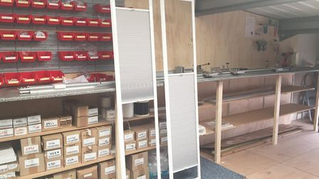 Flying blinds made by Turners Blinds and Shutters at Martlesham Heath. Picture: Turners Blinds and