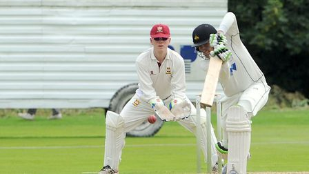 Tom Allen, who scored 20 in Mildenhall's meagre total of 73 all out against Great Witchingham. Pictu