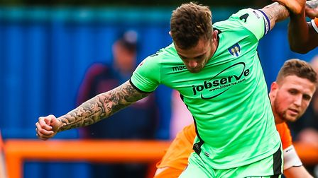 Sammie Szmodics, who scored a late consolation goal in a U's 3-1 defeat at Accrington this afternoon