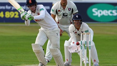 Essex's Dan Lawrence (left) was one of few bright spots in the defeat to Middlesex. Picture: PA SPOR