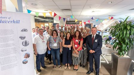 Colleagues gather to celebrate 35 years of operations at the Sanofi Haverhill site