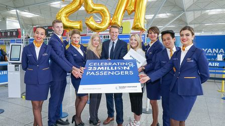 London Stansted celebrates 25 million passengers by surprising two holidaymakers with free flights w