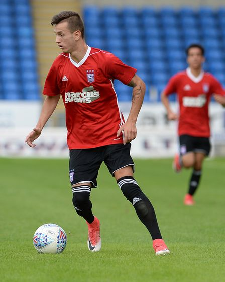 Bersant Celina has had a disrupted pre-season since joining Ipswich Town on loan from Manchester Cit