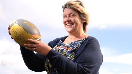 Sarah Wickham is Southwold Rugby Club's first female president and the first female president to f