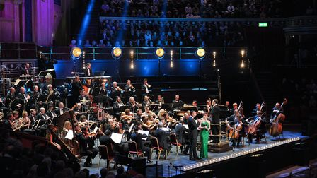 The John Wilson Orchestra performing at this year's Snape Proms. Photo: Chris Christodoulou
