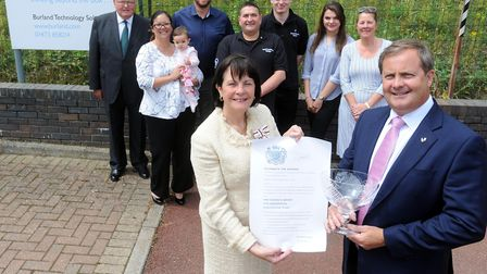 Last year's presentation of the Queen's Award for Enterprise to Burland Technology Solutions at its