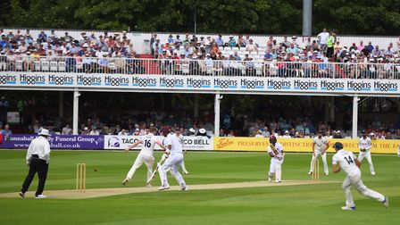 The scene at Chelmsford on day one of the match between Essex and the West Indies at the Cloud FM Co