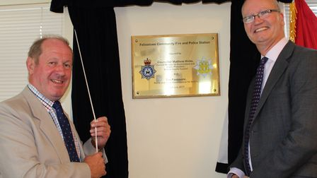 Tim Passmore, PCC, and Matthew Hicks, Suffolk County Council's cabinet member for public protection,