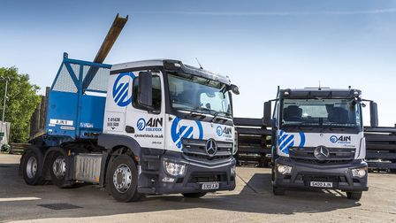 AJN Steelstock vehicles at the company's headquarters near Newmarket. Picture: Craig Pusey