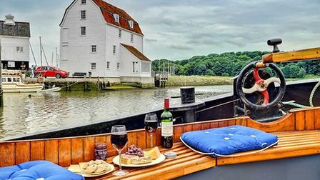 Woodfarm Barns owner Carl Scott has launched a new venture, Woodfarm Barges. Pictured is the deck of
