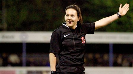Emily Heaslip, who has been selected to take part in the first leg of a Referee Development Exchange