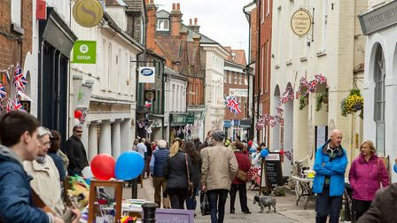 Library image of a busy Woodbridge Thoroughfare. Picture: SIMON PARKER
