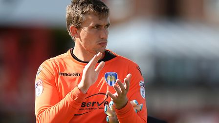U's keeper Sam Walker, pictured on the opening day of this season at Accrington Stanley. Walker is t