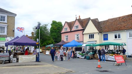 A market has returned to the town of Clare in Suffolk for the first time in 20 years.Picture: RICHA