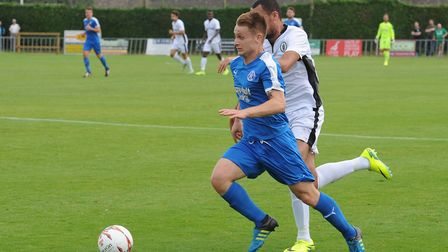 Byron Lawrence scored a cracker for Leiston.