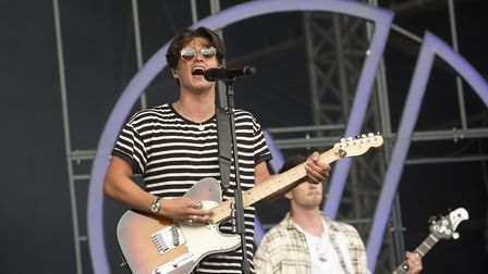 The Vamps perform on the MTV Stage at the V Festival in Hylands Park, Chelmsford. Picture: ISABEL IN
