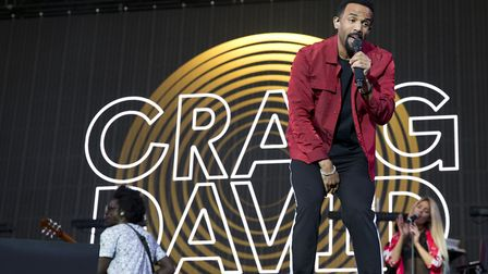 Craig David performs on the Supervene Stage at the V Festival in Hylands Park, Chelmsford. Picture: