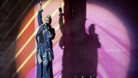 Pink on the Supervene Stage. Picture: ISABEL INFANTES/PA WIRE