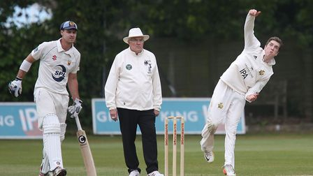 Josh Cantrell, who took three for 39 in Bury St Edmunds' surprise three-wicket win over Swardeston.