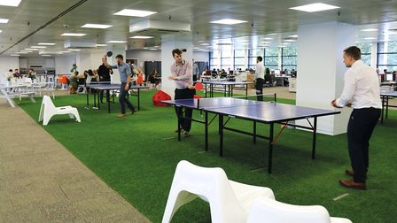 The table tennis and lunch area at Sanctuary Personnel.