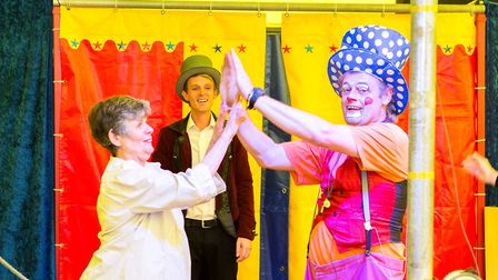 Circus Petite is offering team-building sessions to business. Picture: SIMON BALLARD