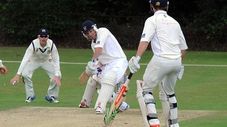 Michael Griggs, who scored 52 in Frinton's seeven-wicket win at Horsford. Picture: ANDY ABBOTT