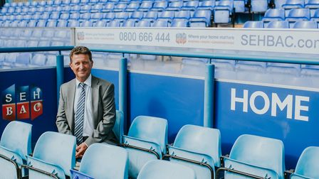 John Savage, managing director of SEH BAC, in the home dugout at Portman Road. Picture: ITFC