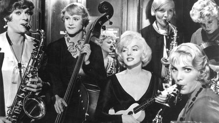 Running Wild - Marilyn Monroe, Tony Curtis and Jack Lemmon in Some Like It Hot. Photo: United Artist