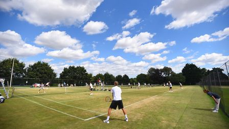 Some of the action at last year's Framlingham Lawn Tennis Tournament. Picture: GREGG BROWN