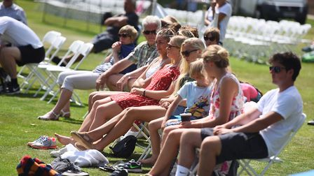 Spectators enjoy the sunshine at a recent tournament. Picture: GREGG BROWN