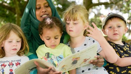 Storytime at Ormitots nursery in Felixstowe Road, Ipswich - Ormiston Families supports children, you