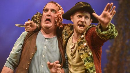 James Peake and Pete Ashmore in Colchester Mercury's production of Peter Pan. Photo: Robert Day