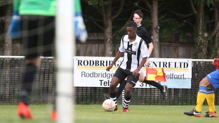 Hassan Ally on the run for Long Melford