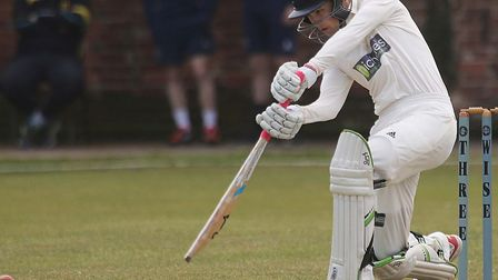 Jordan Nicholls, who scored 34 at the top of the innings during Wivenhoe's win over Haverhill. Pictu