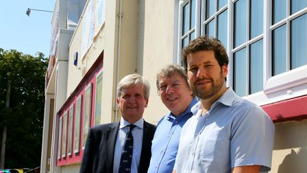 SEH BAC West Cliff Theatre renovation at Clacton-on-Sea. SEH BAC sales director Norman Hornigold (le