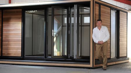Smart Garden Offices in Thurston. Charlie Dalton is pictured.