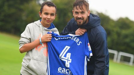 Community link: Luke Chambers says he was proud to front the club's new partnership with the East An