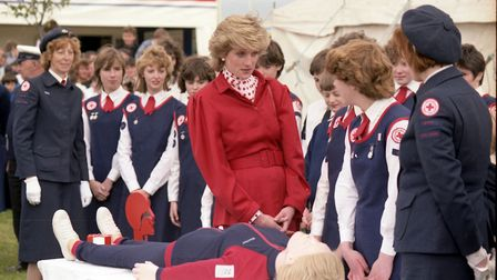 Princess Diana at the Suffolk Show, in the spring of 1986