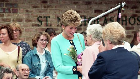 In 1993 Princess Diana opened St Nicholas Hospice in Bury St Edmunds