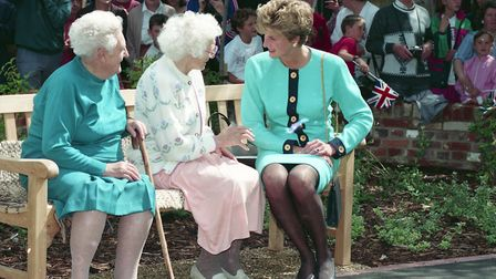 Princess Diana at the official opening of William Wood House in Sudbury