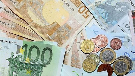 Morgan Stanley says the values of the euro and the pound are heading for parityPhoto: Julien Behal/P