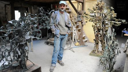 Edwards pictured in the Butley Mills Studio he has since left behind. Picture: SIMON PARKER