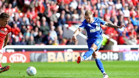 Martyn Waghorn scores Ipswich's winner at Barnsley Picture Pagepix