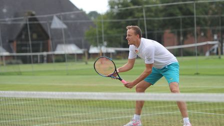 Jez Cowley teamed with Matt Hough to win the Suffolk doubles title