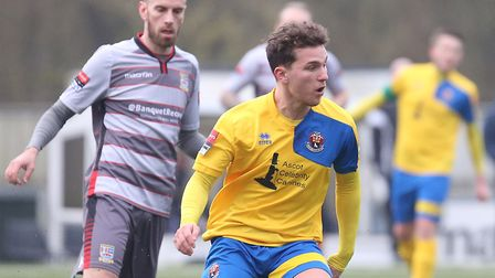 Liam Wales, back at Bury Town after a spell with AFC Sudbury. Picture: RICHARD MARSHAM