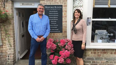 Monty and Helen Atherton of Bespoke Blinds in Long Melford